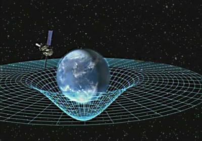 物質會扭曲時空,質量愈大,扭曲愈大。 圖片來源:NASA