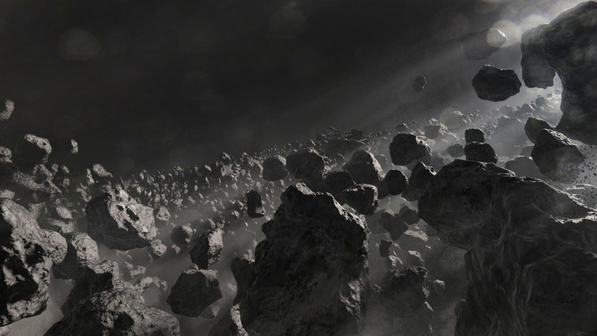衝擊附近地面被碎石覆蓋,毒氣瀰漫。