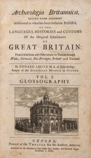 Edward Lhuyd 所寫的 《 Archaeologia Britannica 》 。圖片來源:Dreweatts & Bloomsbury Auctions