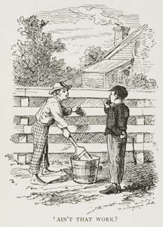 1876 年「湯姆歷險記」小說插圖。