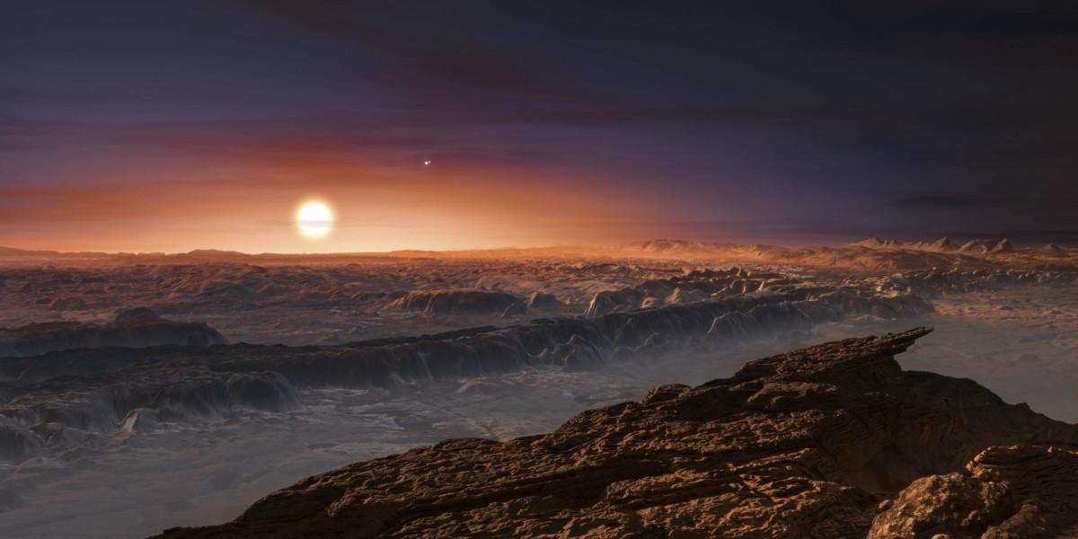 宜居系外行星 Proxima b 的畫家示意圖。 圖片來源:路透社