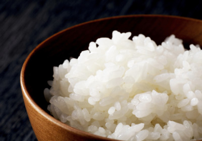 White steamed rice in rice bowl.