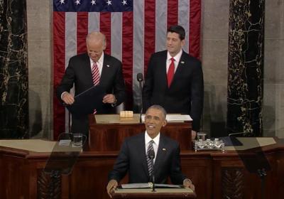 2016 年 1 月 12 日,奧巴馬任期最後一次國情咨文。