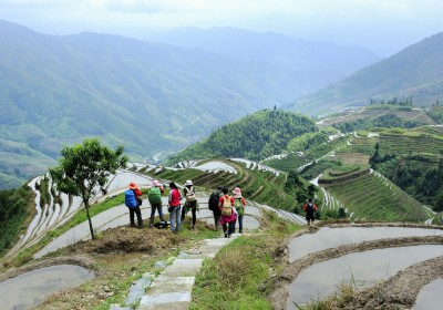 tourists in the terraced fields 01