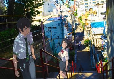 如果瀧和三葉也到動畫外的須賀神社朝聖。圖片來源:学生日記.asia
