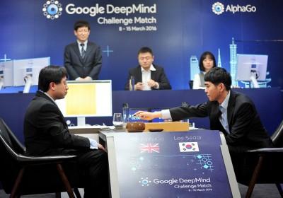 人機對決元年:2016 年李世石對 AlphaGo 五番棋。