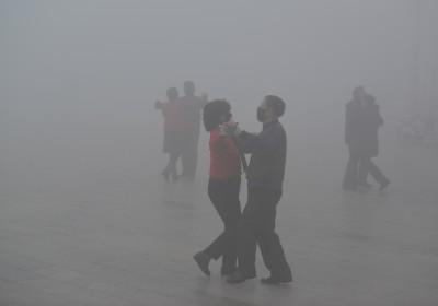 霧霾之國:中國。 圖片來源:路透社