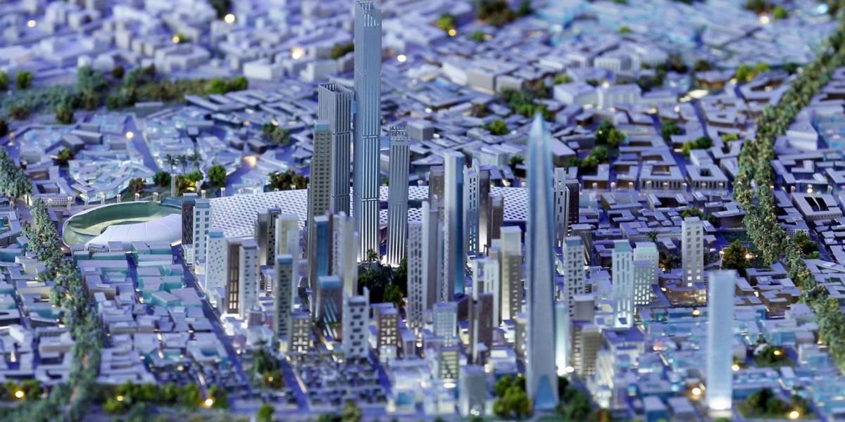 埃及的新首都模型。 圖片來源:路透社