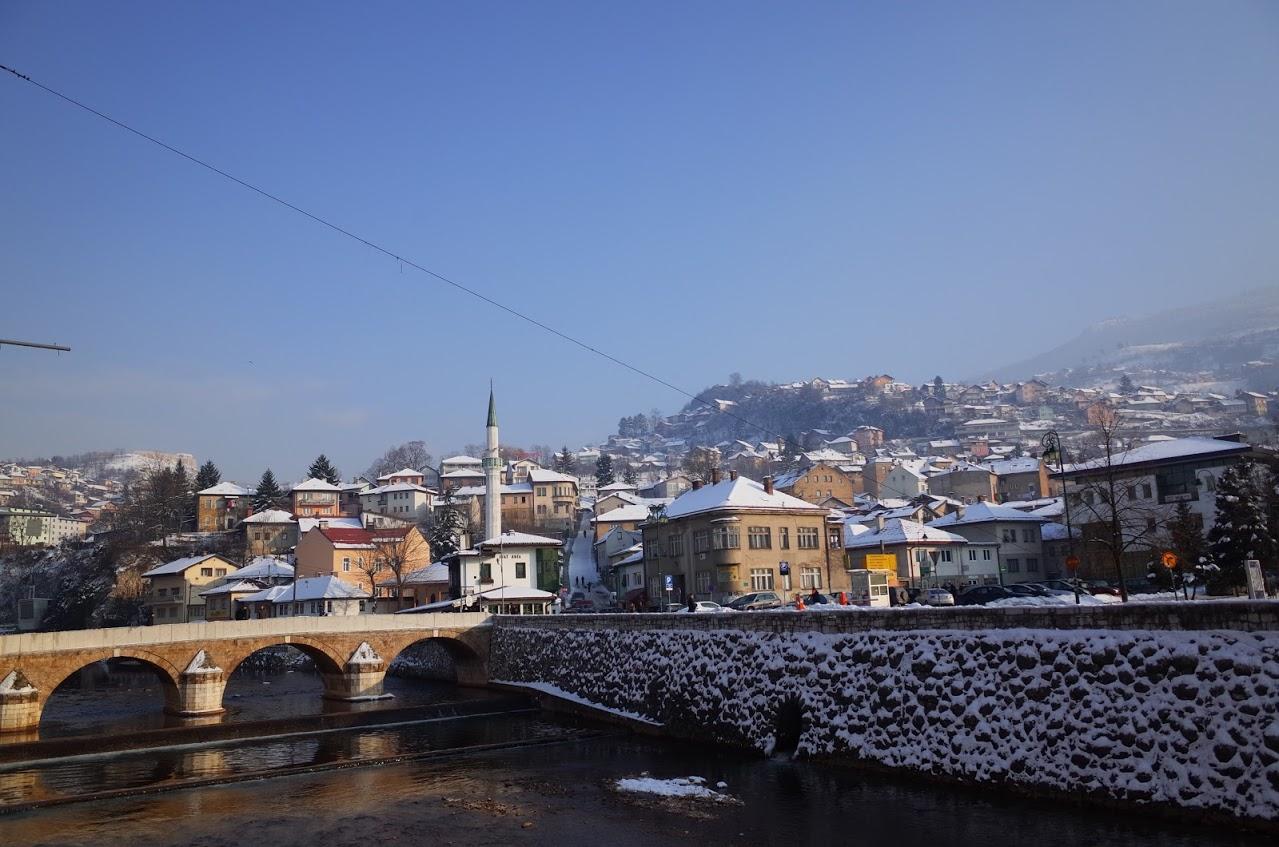 大雪下的薩拉熱窩