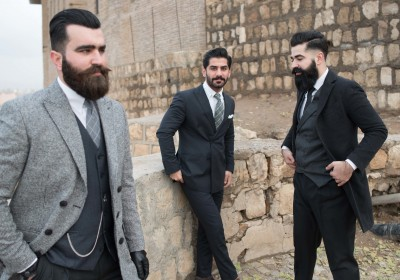 Omer Nihad (left), Goran Pshtiwan (centre) and Ahmed Nauzad (right) are some of Iraqi Kurdistan's best-dressed assets
