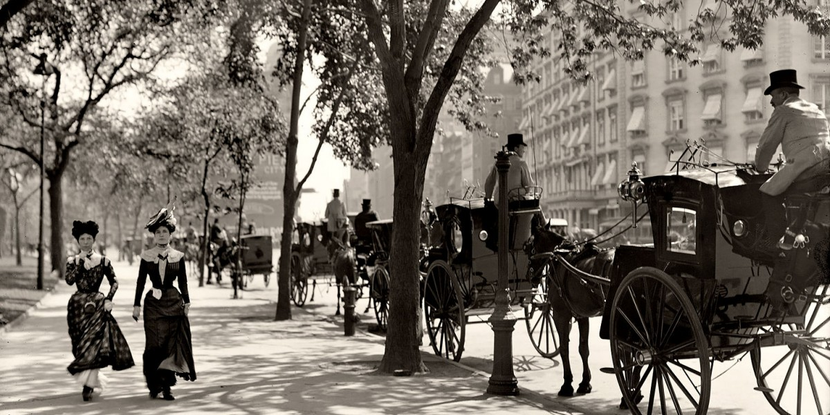 20 世紀初的美國街道 圖片來源:Inspired Wwriter