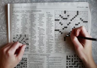 「紐約時報」的填字遊戲,你玩過了沒有?圖片來源:Toronto Star