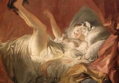 Fragonard(1732-1806)「女孩與小狗」系列之一