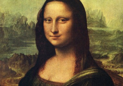 「蒙羅麗莎的微笑」。