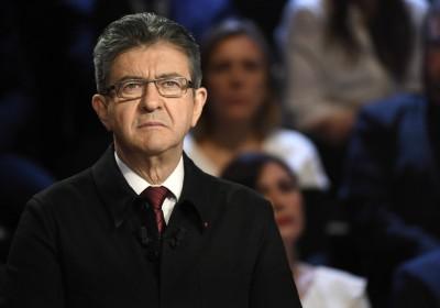 極左派梅朗雄異軍突起,法國大選又添變數。 圖片來源:路透社