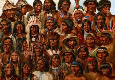 美洲原住民各部落之間的基因配對吻合度相當高,卻與亞洲人種差異甚大,間接證實白令陸橋滯留假說。 圖片來源:G. Mülzel
