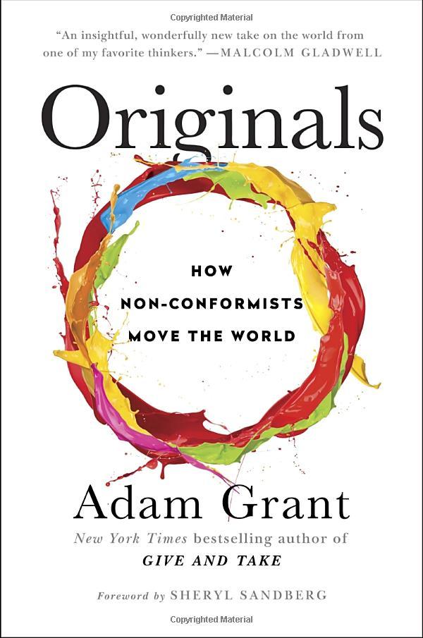 資料來源:Originals: How Non-Conformists Move the World;作者:Adam Grant 圖片來源:amazon