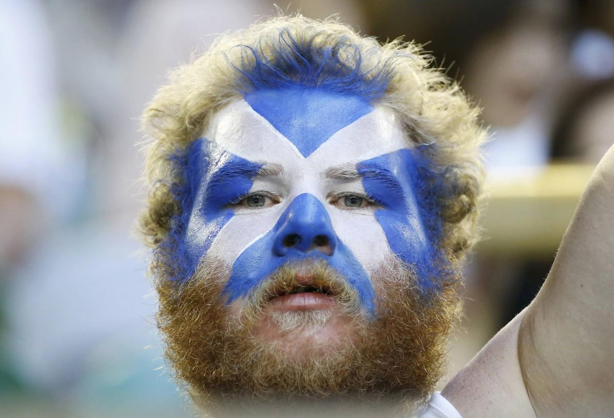 蘇格蘭人喜歡將心情寫在臉上。 圖片來源:路透社