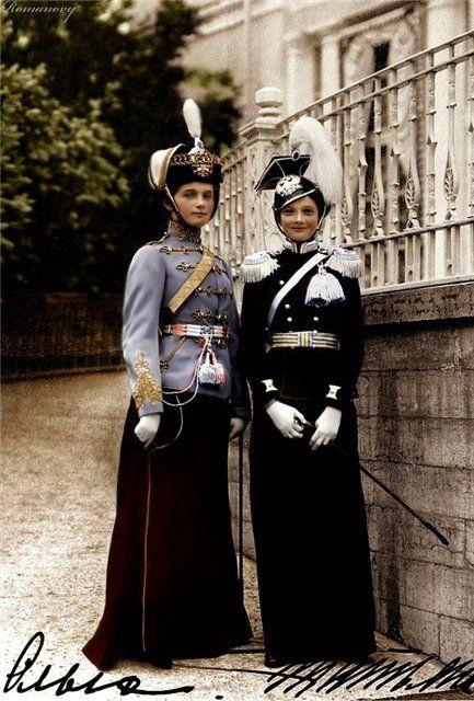Grand Duchesses Olga, Tatiana Nikolaevna (圖片來源:fashiony.ru)