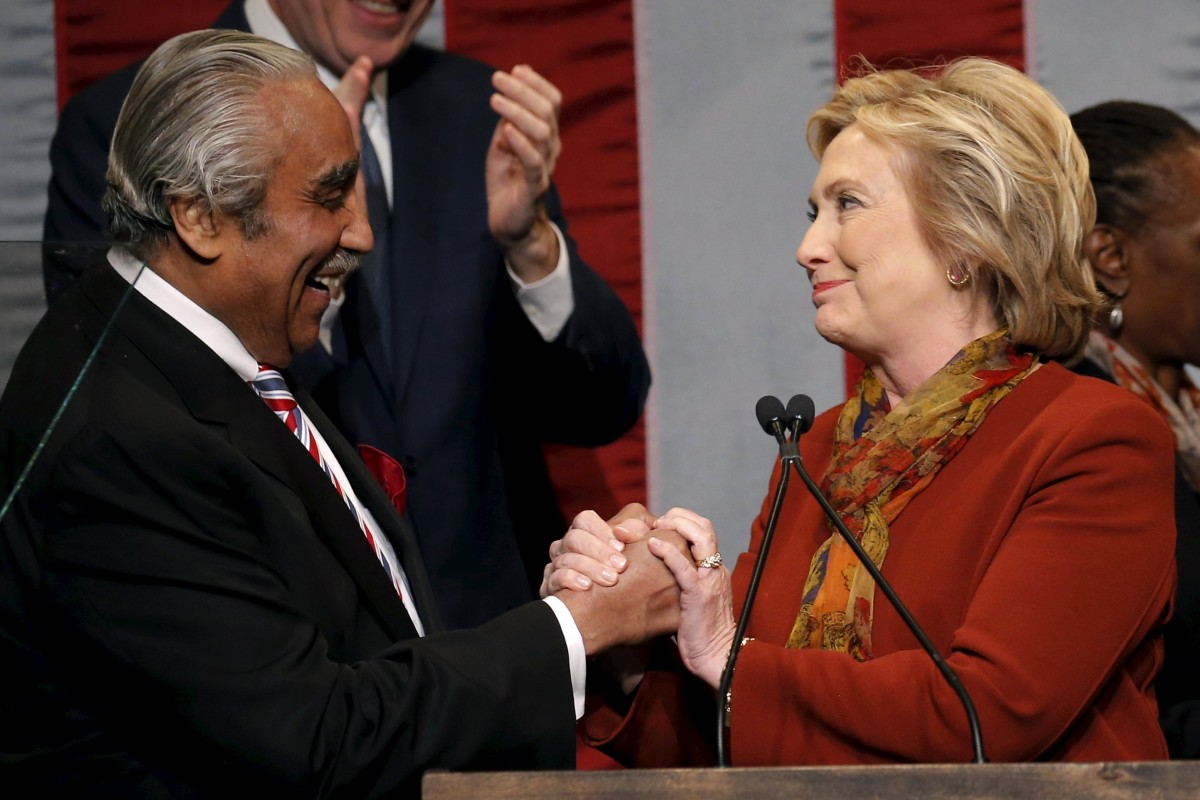 希拉莉受非裔選民歡迎,於黑人佔多州份優勢顯著。 圖片來源:路透社