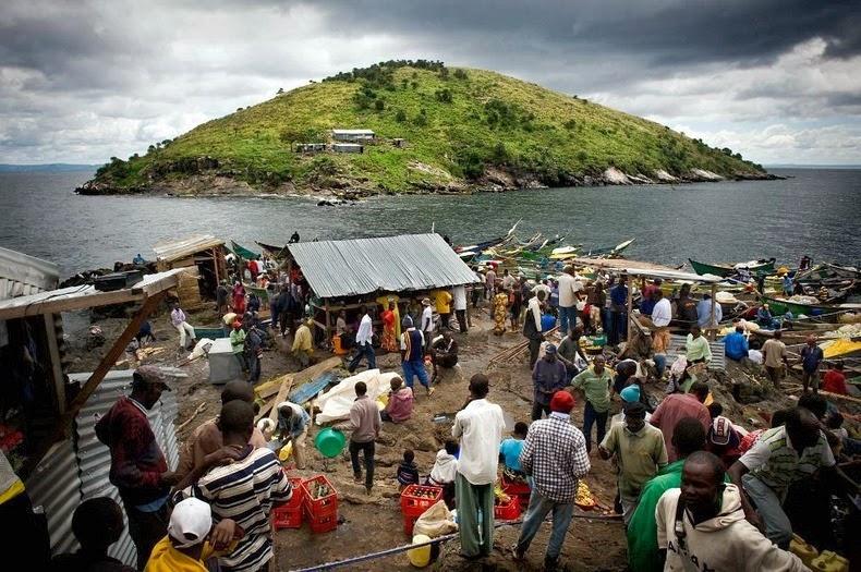 海域盛產尼羅尖吻鱸,產值高達數百萬美元,吸引來自肯亞、烏干達和坦桑尼亞的大批漁民移居島上。 圖片來源:Andrew Mcleish