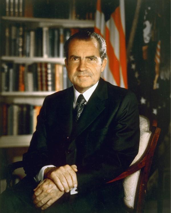 共和黨總統尼克遜的「家庭協助計劃」引入全民基本收入概念,方案獲眾議院通過,卻遭參議院駁回。 圖片來源:維基百科