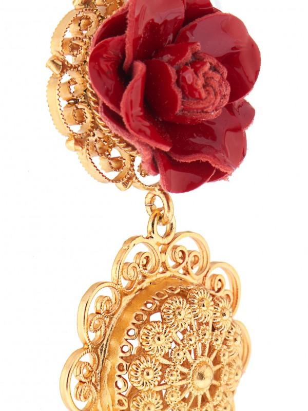Dolce & Gabbana 黃金聖心耳環