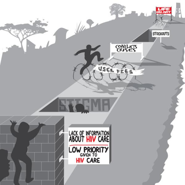 無國界醫生最近發表報告,揭示西非與中非的愛滋病問題備受嚴重忽視,呼籲國際社會為有需要的病人加快提供抗病毒治療。© Manon Brulé/MSF