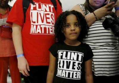 來自佛林特市的八歲男童 Mari Copeny準備參與鉛水事件的聽證會。 圖片來源:REUTERS