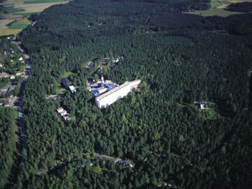 Paimio 療養院,座落於芬蘭西南部松樹森林中。圖片來源: National Board of Antiques, Finland.