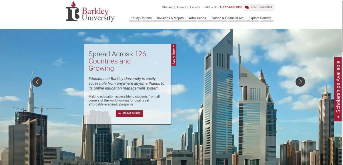 Axact 以仿英美校名招徠,例如 Barkley、Brooklyn Park、Columbiana 等,網站內容完全虛構,教授全是演員,校園照亦是網絡免費圖片。 圖片來源:Barkley University