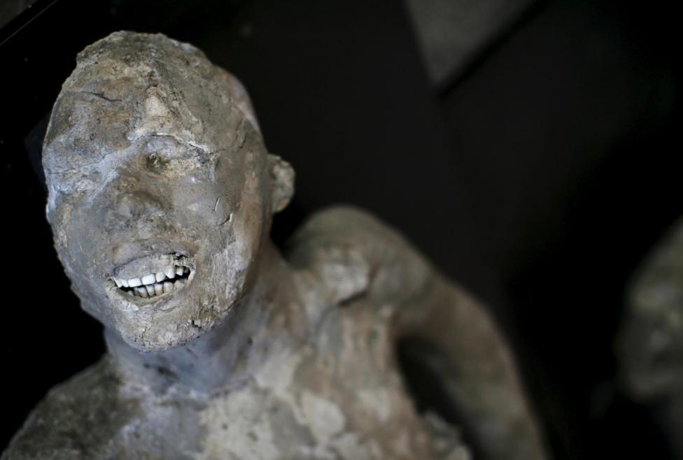 龐貝古人完美的牙齒得力於低糖飲食。 圖片來源:路透社