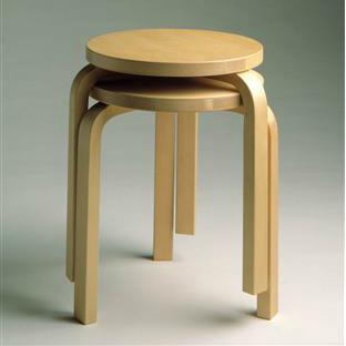 """Stool"", by Artek. 圖片來源:芬蘭設計博物館"