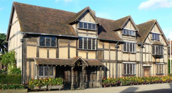 莎士比亞出生處位於 Stratford。 圖片來源:維基百科