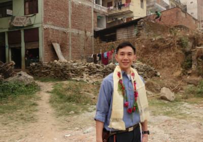阿俊從建築角度去考察災後重建的可發展空間。