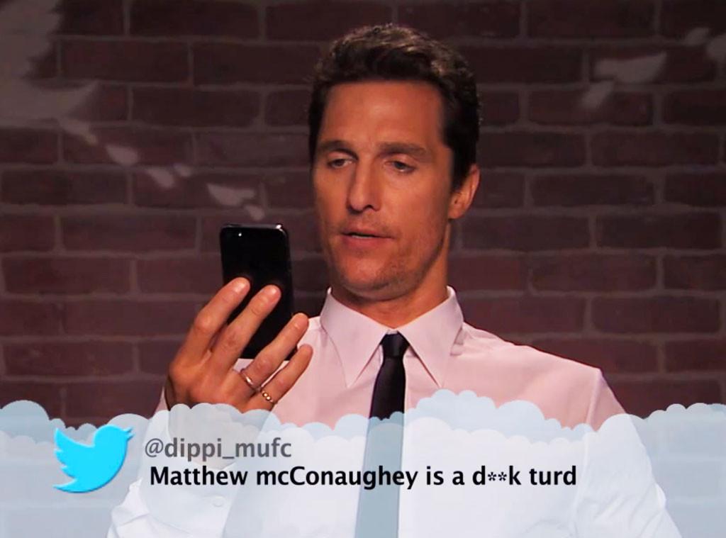 Matthew McConaughey 應該如何處理負面批評?