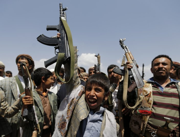 世上童兵多達 30 萬人,集中於衝突地區,例如也門。 圖片來源:路透社