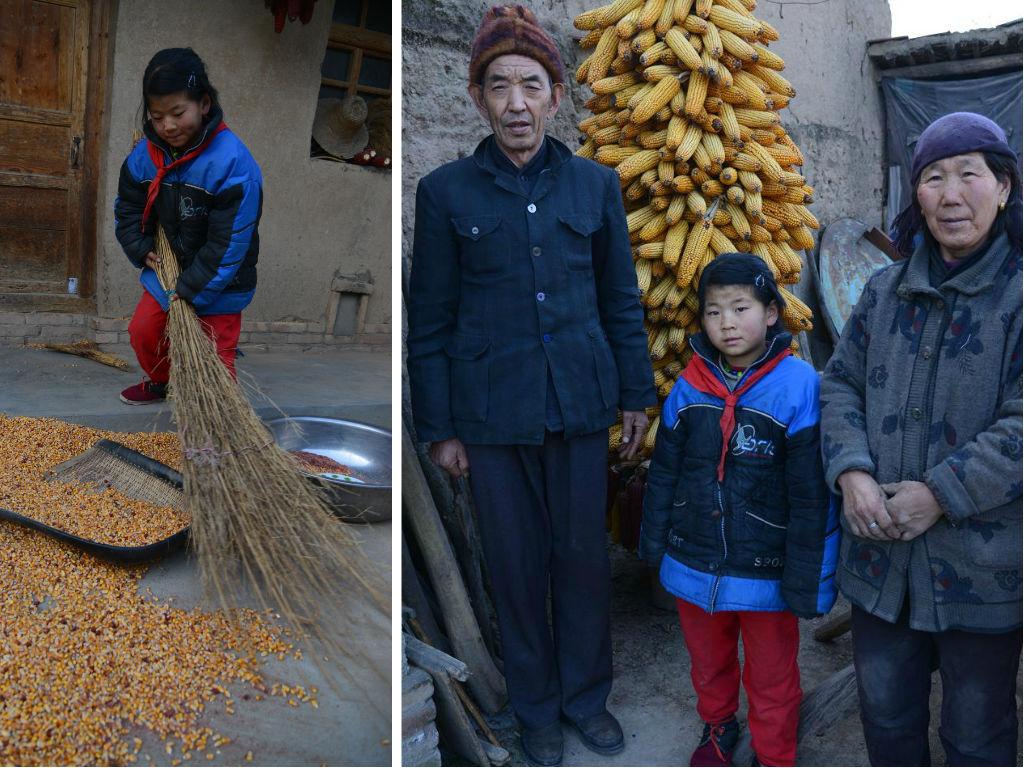 我們稱銀娣為「小大人」,年紀輕輕的她,除了協助嫲嫲照顧患病的爺爺,還負起幹農活的責任。