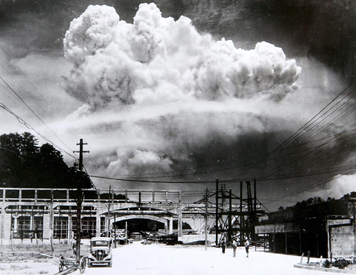 長崎原爆捲起巨風及烈焰,造成 74000 人喪生。 圖片來源:長崎原爆資料館