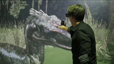 辛丹斯電影節 2016 New Frontier: The Holo-Cinema 的 AR 體驗剪影。圖片來源:Youtube 片段