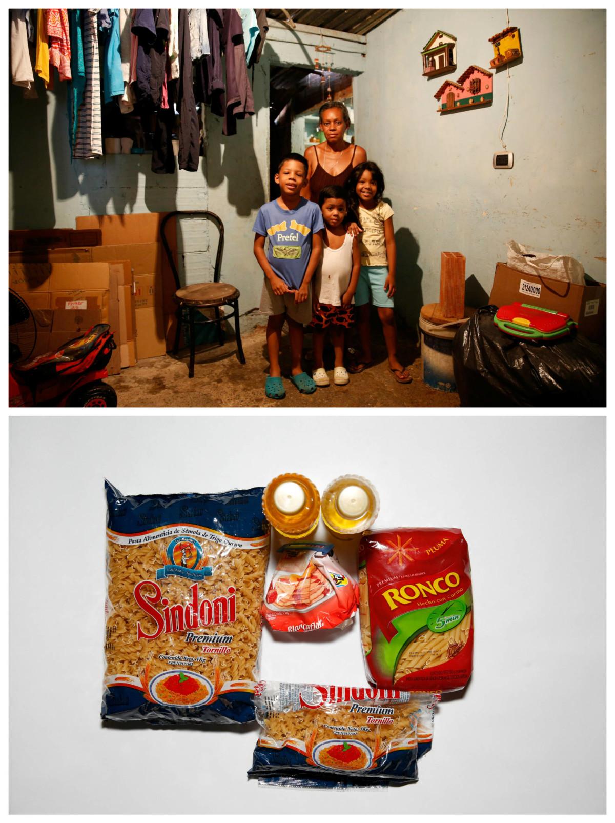 Rosa Elaisa Landaez 與親戚:「我們吃得很差,好似如果我們買到栗米粉,就全日食栗米麵包。」