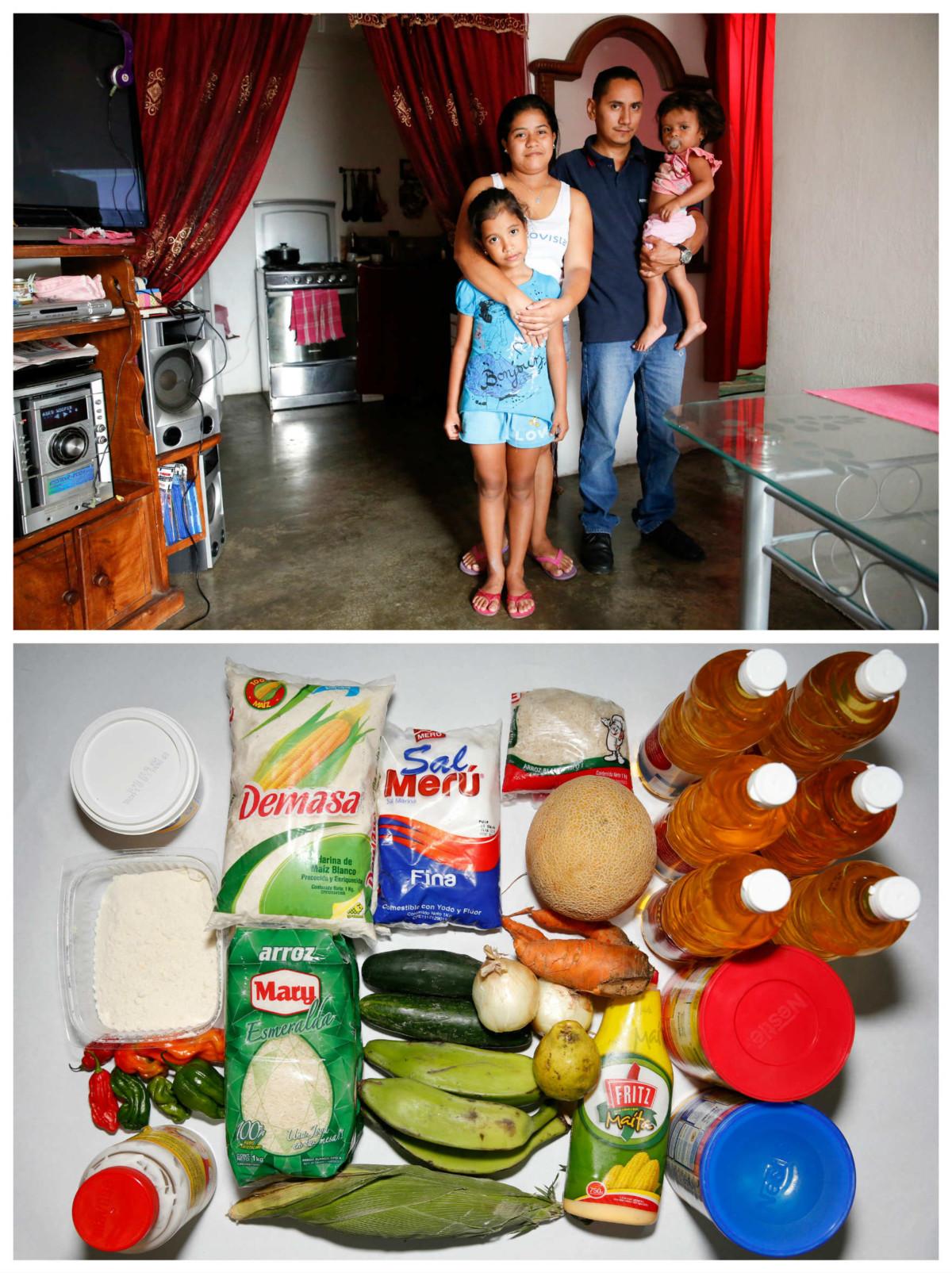 Lender Perez 一家:「我們一連 15 日都在吃芝士麵包或是芝士栗米麵包。飲食質素差了,因為我們找不到食物,找得到的又買不起。」