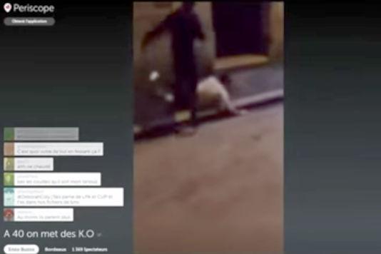 上月法國兩名青年於波爾多的夜店區襲擊一名男子,其中一人用 Periscope 直播過程,事後二人均被拘捕