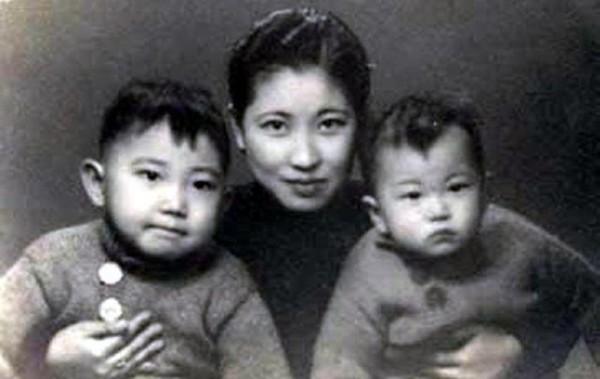 朱梅馥和兒時的傅敏傅聰