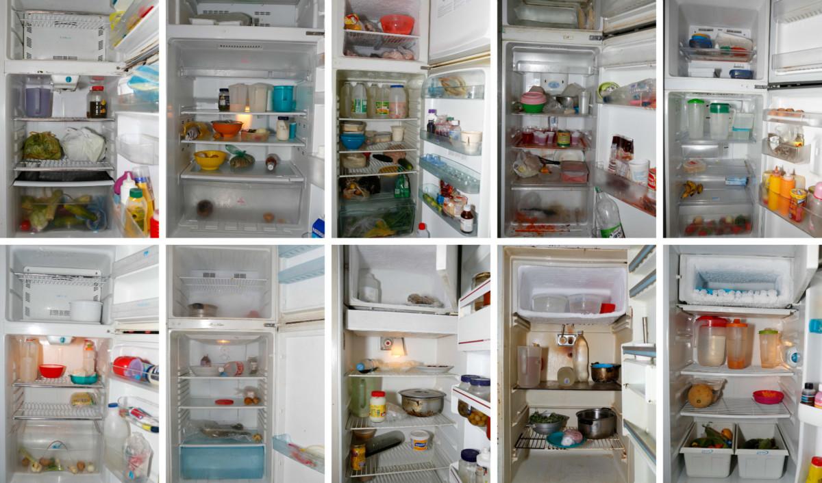 委內瑞拉嚴重缺糧,居民雪櫃相當冷清。 圖片來源:路透社