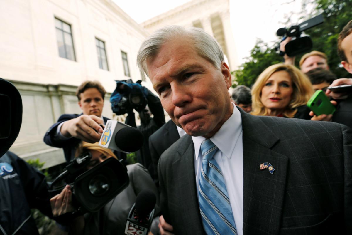 前維珍尼亞州長麥當紐被控在任期間,收受商人利益,交換政治報酬。 圖片來源:路透社