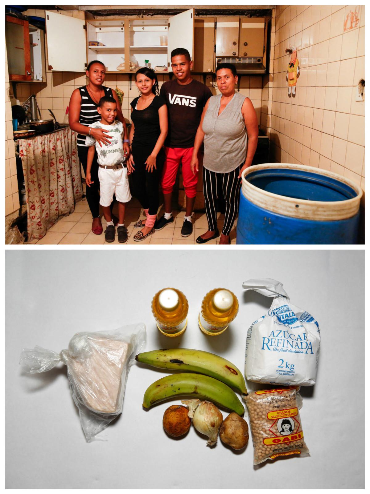 Francisca Landaeta 與親戚:「吃得一日是一日。我們從沒想過會發生這樣差的情況。」