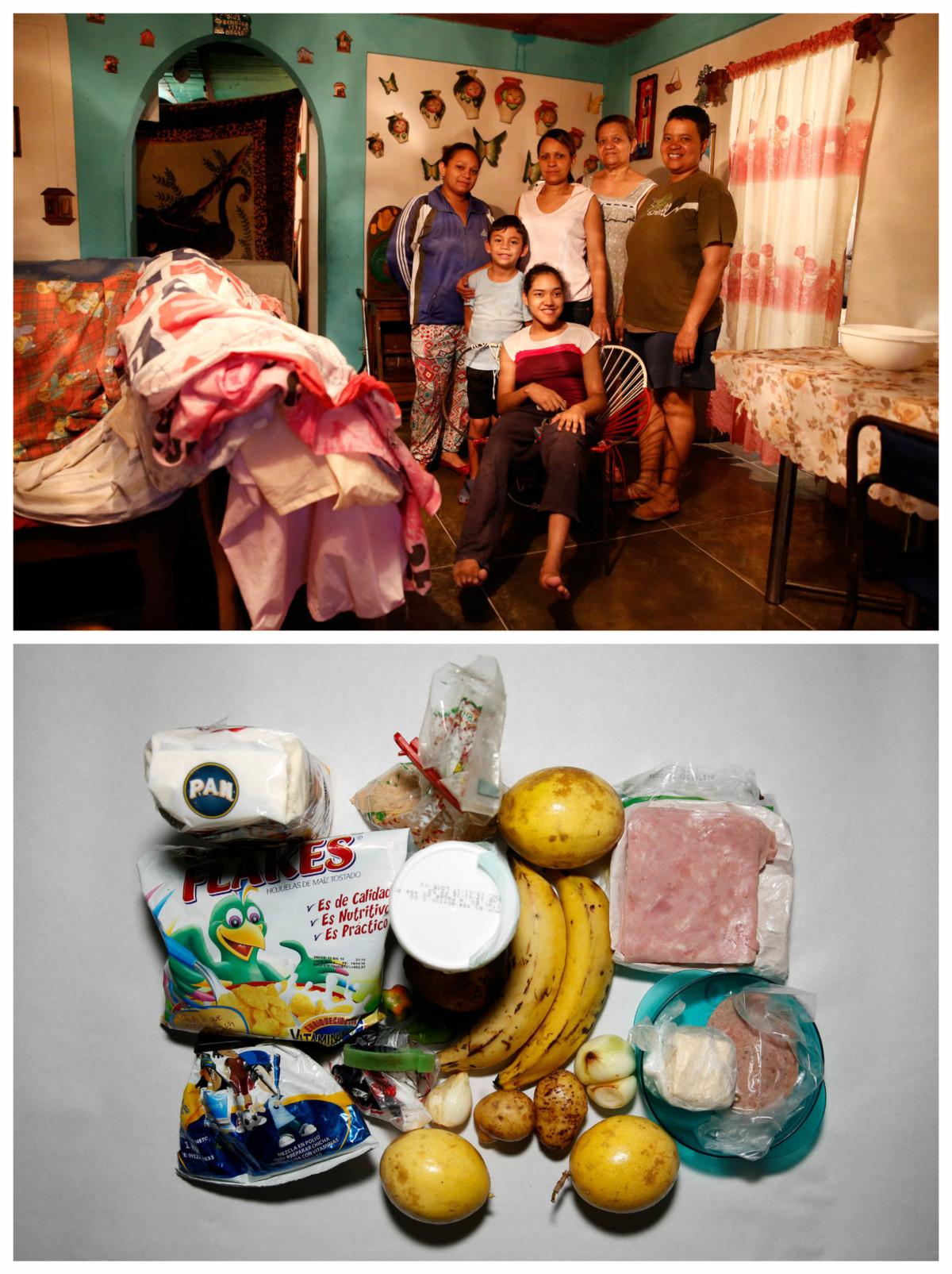 Victoria Mata 一家六口:「我們吃得少了,因為根本找不到食物;當食物出現,又大排長龍,最終也買不到。以前我們一日三餐,現在最多每日兩餐,如果有的話。」