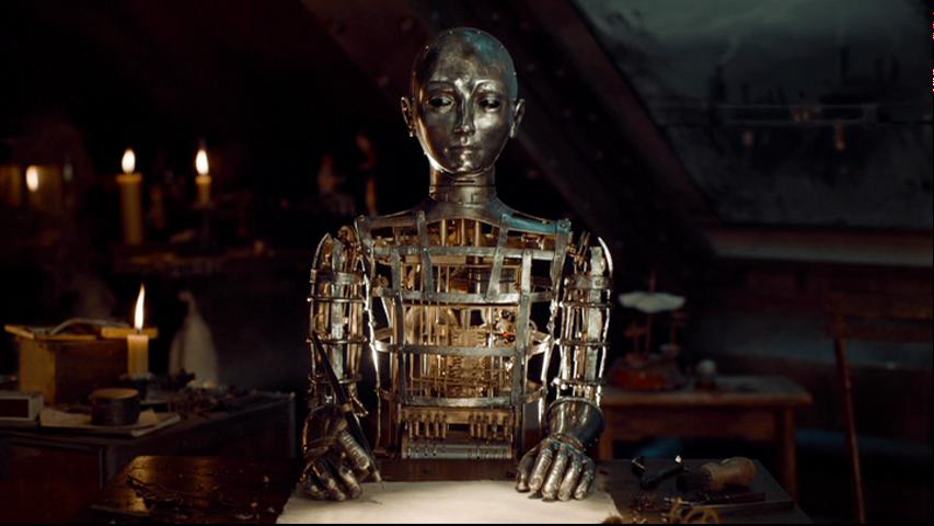 電影「雨果的巴黎奇幻歷險」中的機器人作家。