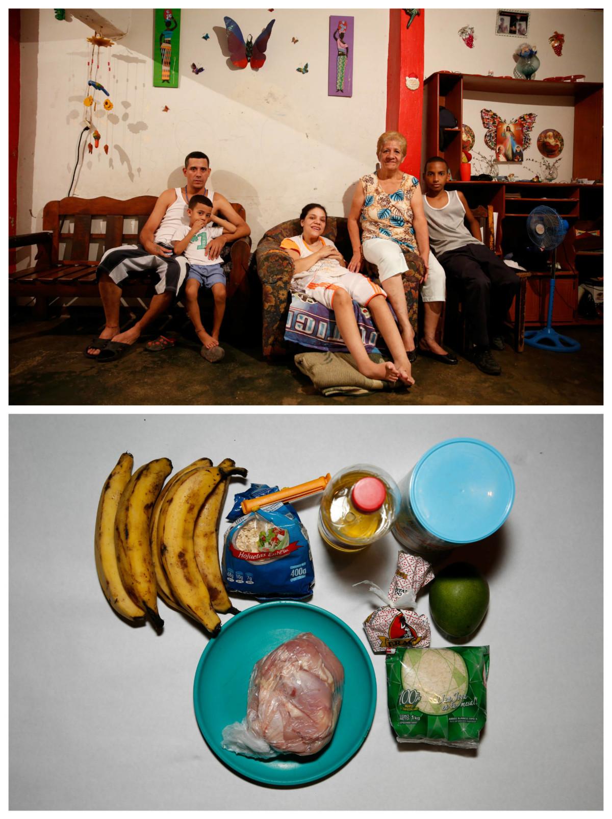 Alida Gonzalez 與親戚:「以前買到早午晚三餐的錢,現在只能買到早餐,而且是不算好的早餐。」